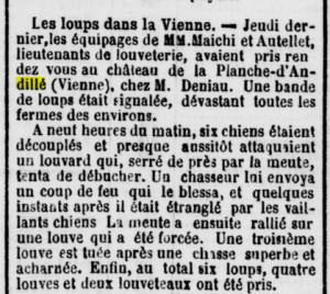 Mémorial de la Haute Loire 6 novembre 1884